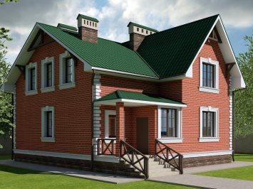 Проект дома из арболита с мансардой А-133