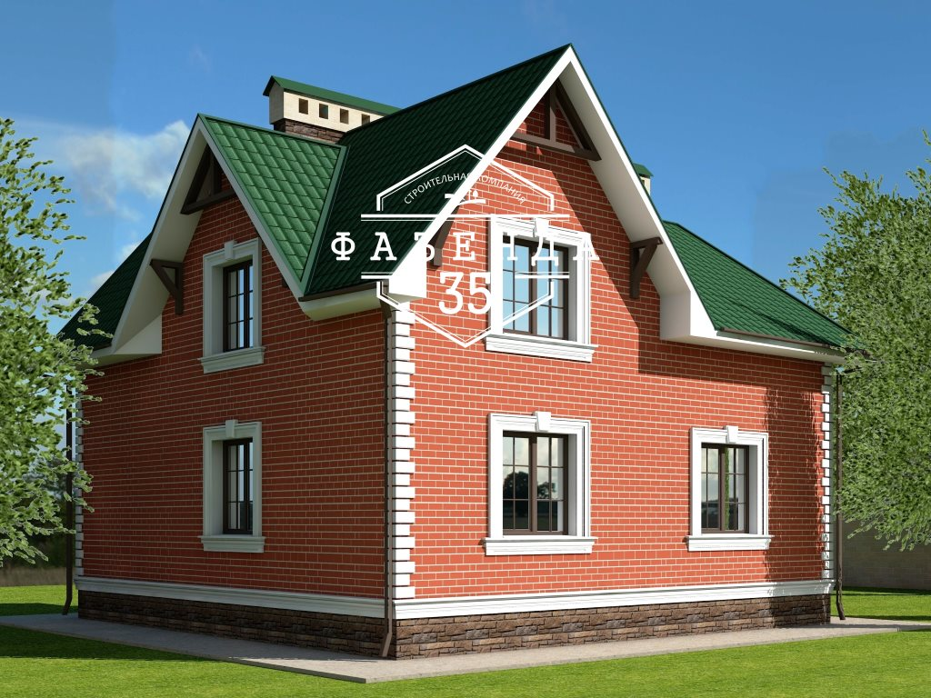 Проект дома из газобетона 10х10 с мансардой 129 кв. м - фото 2