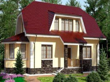 Проект загородного дома из арболита А-144