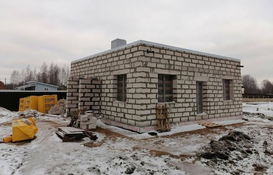 Строительство одноэтажного дома из газобетона 9 на 9