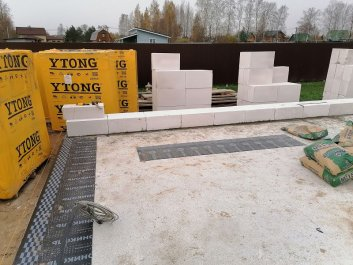 Коробка дома - газоблок YTONG фото 1