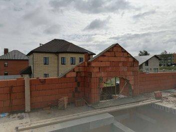 Кладка стен дома из керамоблоков фото 12