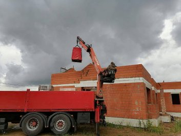 Кладка стен дома из керамоблоков фото 10