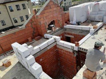 Кладка стен дома из керамоблоков фото 13